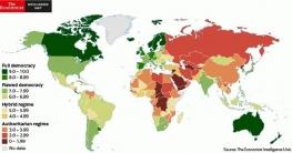 বিশ্ব গণতন্ত্র সূচকে ৮ ধাপ এগিয়ে বাংলাদেশ