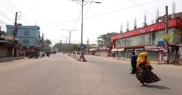 সরকারঘোষিত লকডাউনে ঠাকুরগাঁও শহরে শুনশান নিরবতা